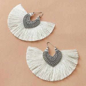Boho Chic Tassel fringe fan earrings